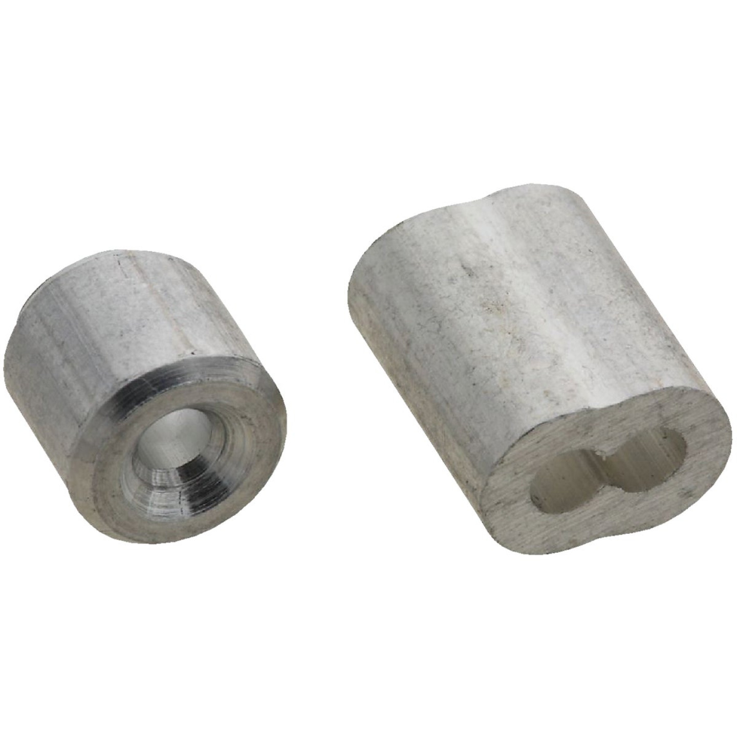 National 3/32 In. Aluminum Garage Door Ferrule & Stop Kit Image 1