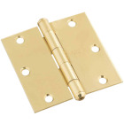 National 3-1/2 In. Square Solid Brass Door Hinge Image 1