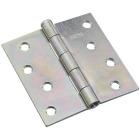 National 4 In. Square Zinc Plated Steel Broad Door Hinge Image 1