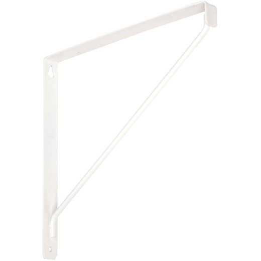 National 207 10-3/8 In. D. x 7-1/32 In. H. White Steel Shelf Bracket