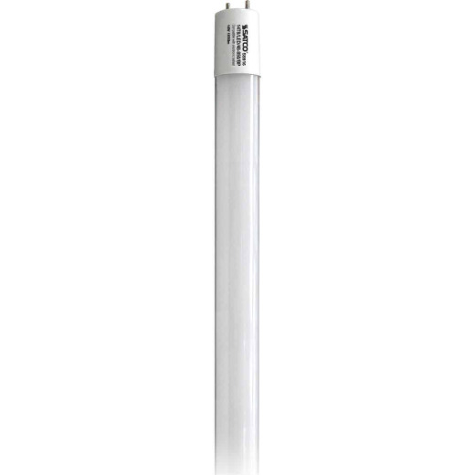 Satco 32W Equivalent 48 In. Natural Light T8 Medium Bi-Pin Ballast Bypass DLC Certified LED Tube Light Bulb