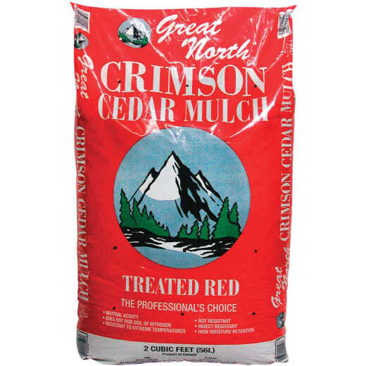 Great North 2 Cu. Ft. Dyed Red Cedar Mulch